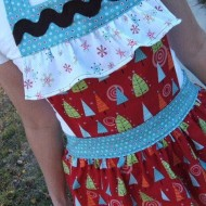 Frilly Christmas Apron