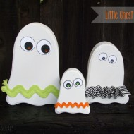 Cute Little Ghost Family