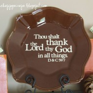 Thanksgiving Decor {Vinyl on Platter}