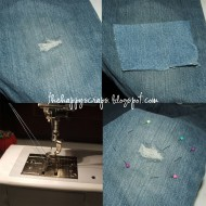 How To – Patching Holes in Knees of Jeans