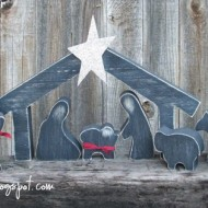 Wooden Silhouette Nativity