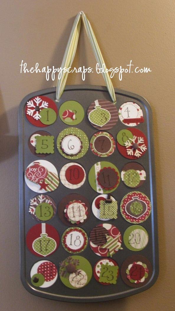 Diy Advent Calendar Muffin Tin : Mini muffin tin advent calendar the happy scraps