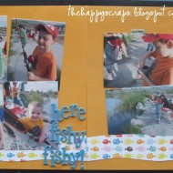 Scrapbook Thursday-Here Fishy Fishy