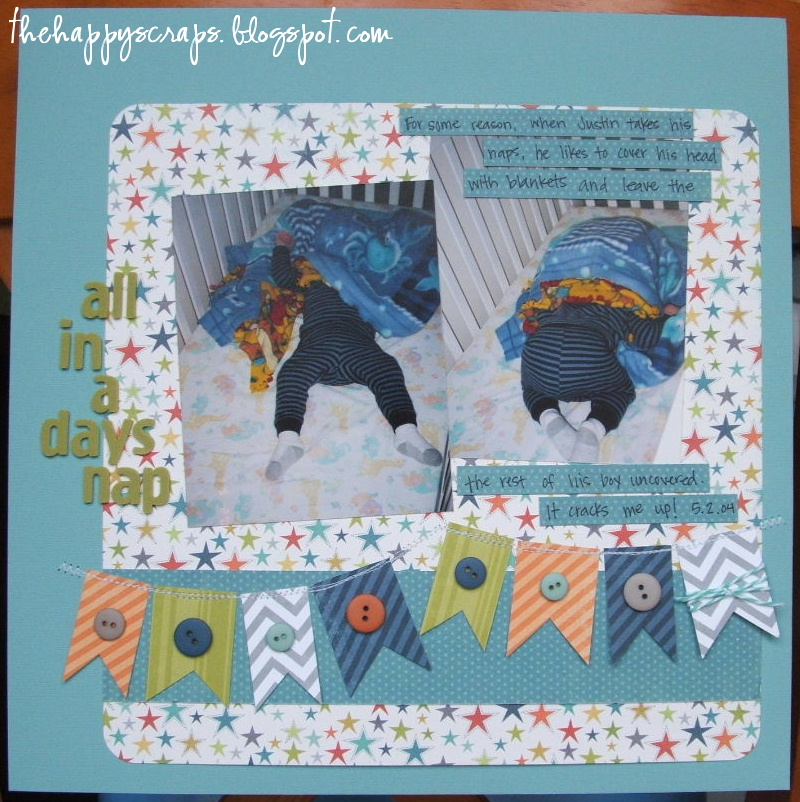 Scrapbook Thursday All In A Days Nap The Happy Scraps