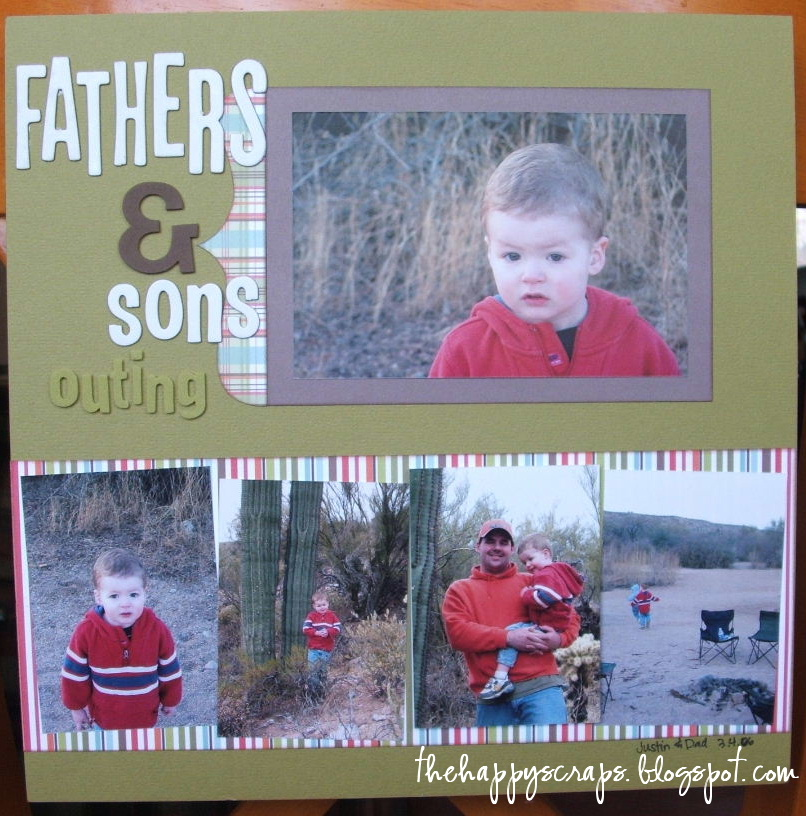 So Happy With This Pieces Got To Work On Thursday Father: Scrapbook Thursday {FATHERS & Sons Outing}