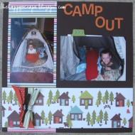 {Scrapbook Thursday} Camp Out