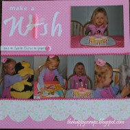 Scrapbook Thursday-Make a Wish birthday layout