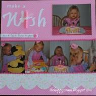 Scrapbook Thursday-Make a Wish birthday layout
