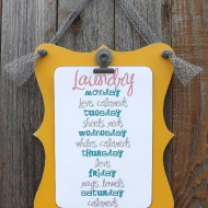 DIY Shaped Clipboard & Laundry Schedule