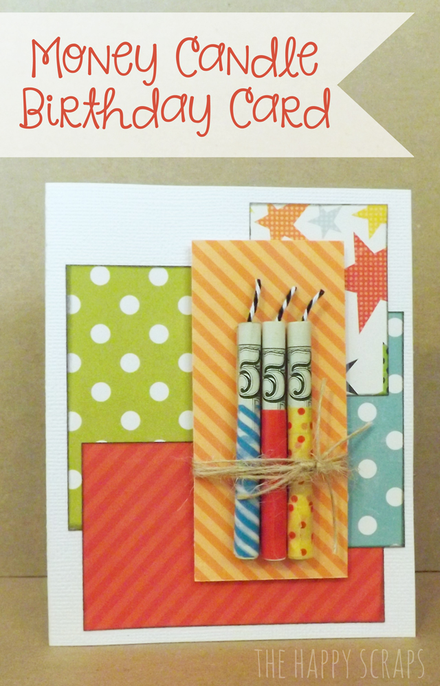 Money Candle Birthday Card