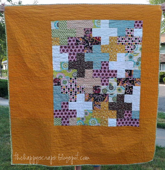 Scrappy Throw Quilt