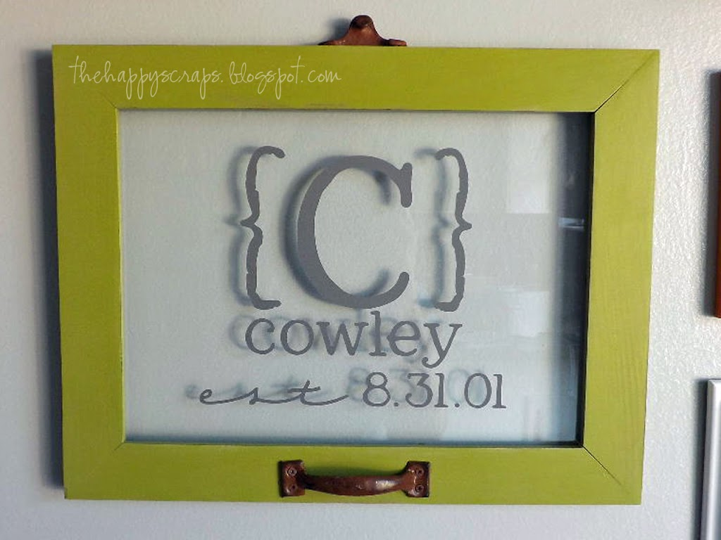 Framed Last Name Decor