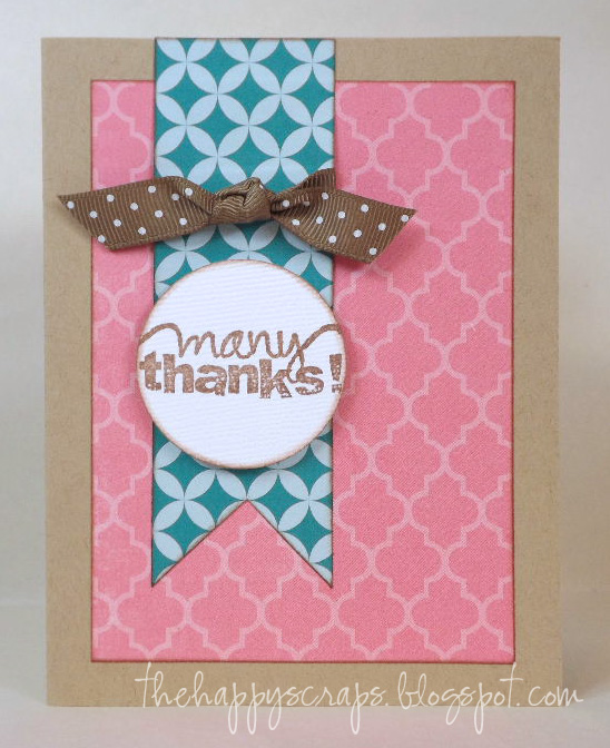 Easy Handmade Thank You Card The Happy Scraps