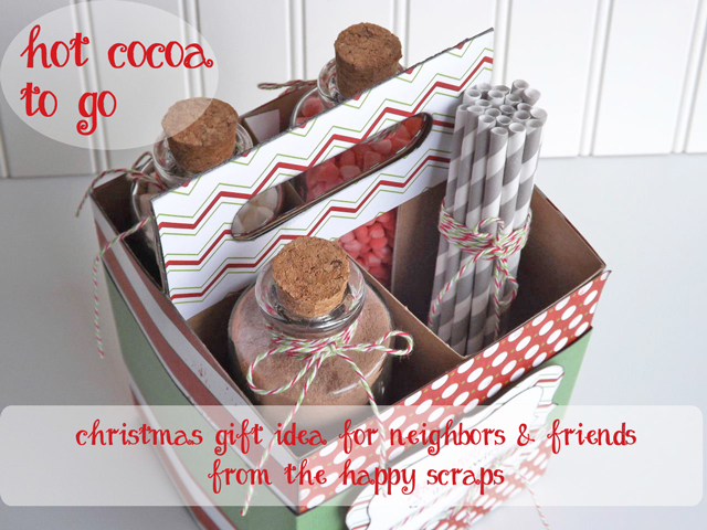 Hot Cocoa Christmas Neighbor Gift - The Happy Scraps