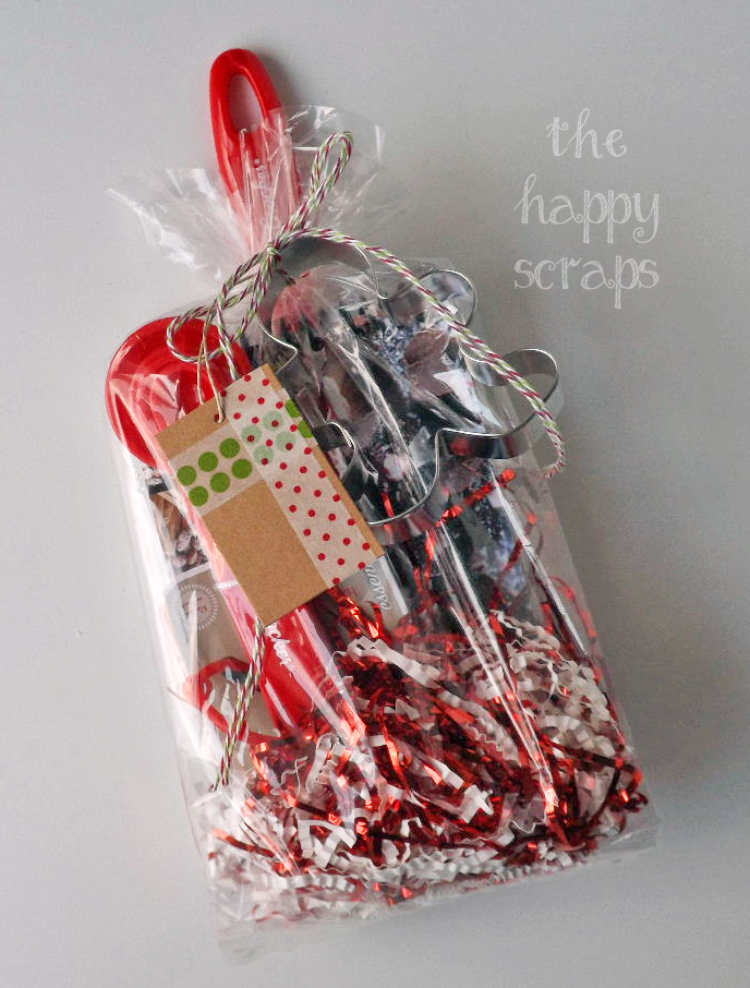 washi tape cellophane bag lemon poppy gift