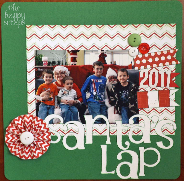 Santa's Lap [Scrapbook Layout]