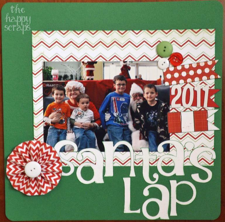 Santa's Lap [Scrapbook Layout]