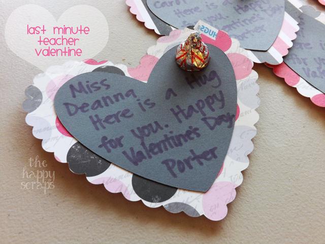 Last Minute Teacher Valentine