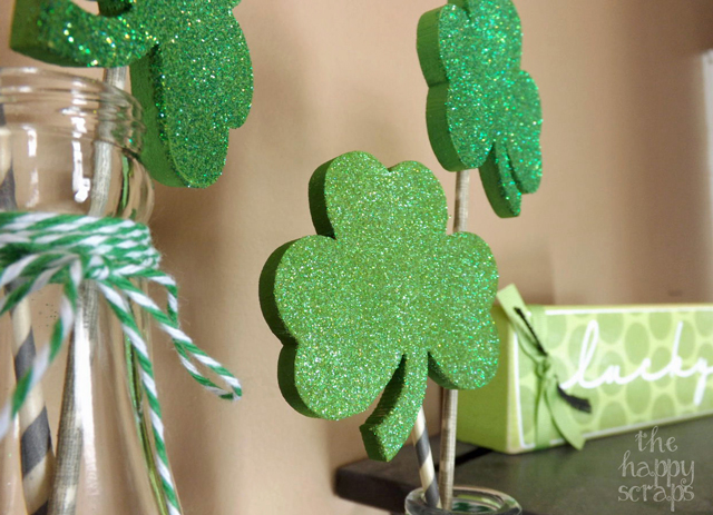 glittered-shamrocks