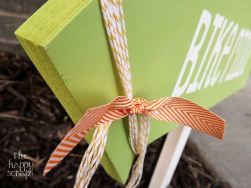 twine and ribbon
