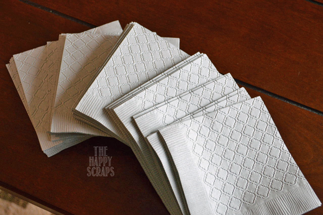 embossed-napkins-cuttlebug-baby-shower
