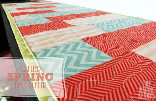 quilted table runner spring