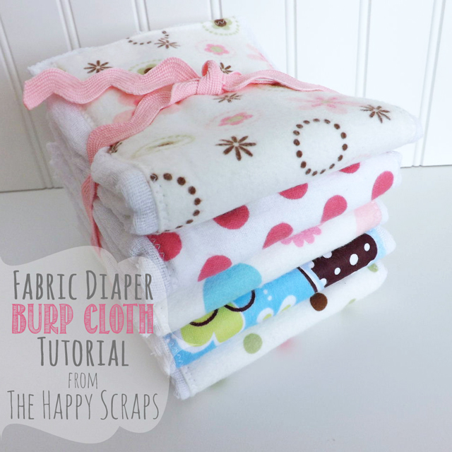 Cloth Diaper to Burp Cloth Tutorial