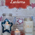 Mason Jar {Red, White, & Blue} Lanterns