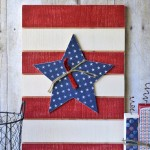 Star Slat Board {Patriotic Decor}