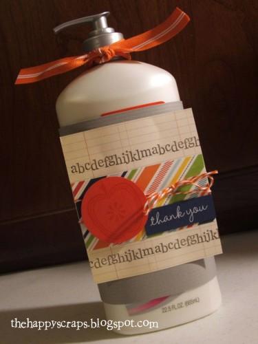 Lotion teacher gift