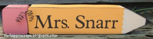 Personalized Pencil Teacher Gift