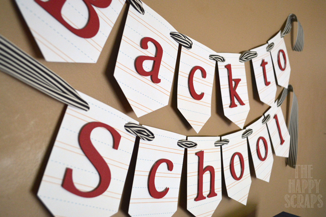 Putting together a Back to School banner is easy and fun! Check out how I did it and see the other items I used to decorate for back to school!