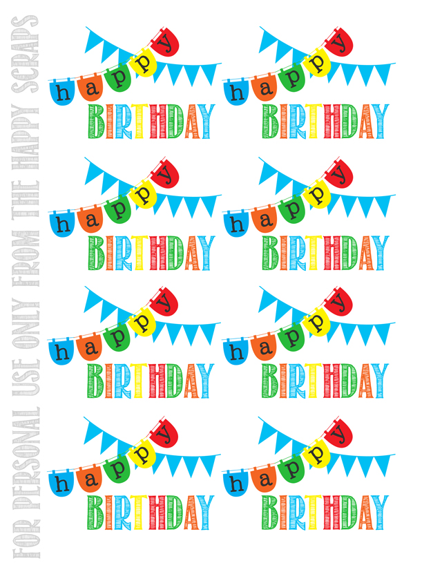 This is an image of Unusual Free Printable Birthday Tag