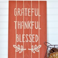 Thanksgiving Slat Sign