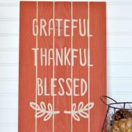 Thanksgiving Slat Sign