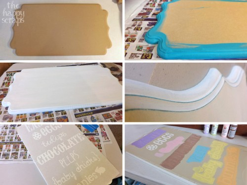 DIY Easter Sign collage