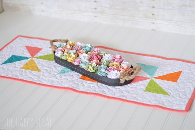 Excellent Pinwheel Table Runner - The Happy Scraps NL26