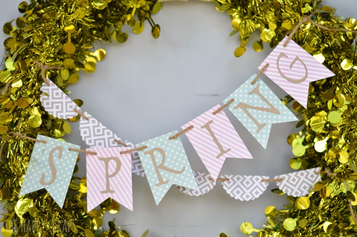 Spring Bunting Wreath