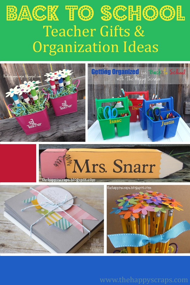 Back to School Teacher Gifts & Organization Ideas