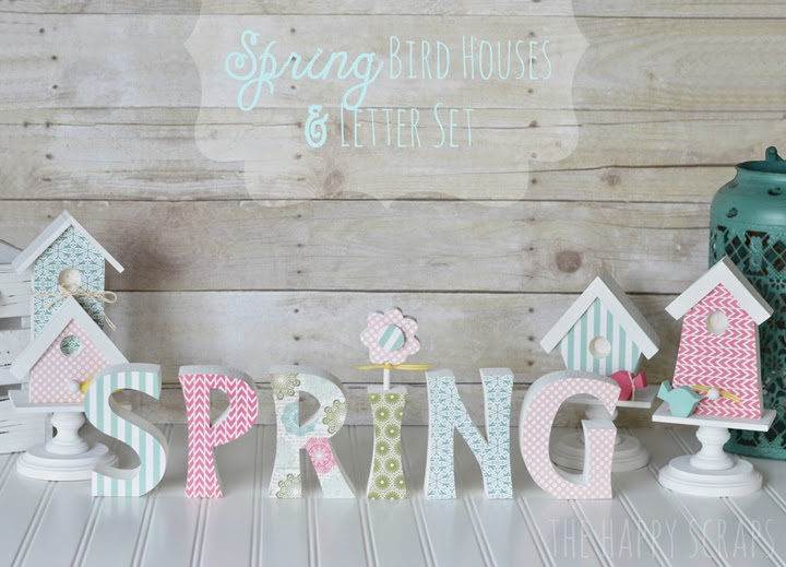 Spring Bird Houses & Letter Set