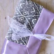 Self Binding Baby Blanket Tutorial