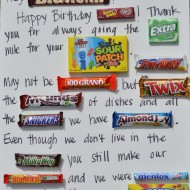 Candy Bar Poster-Father's Day Idea