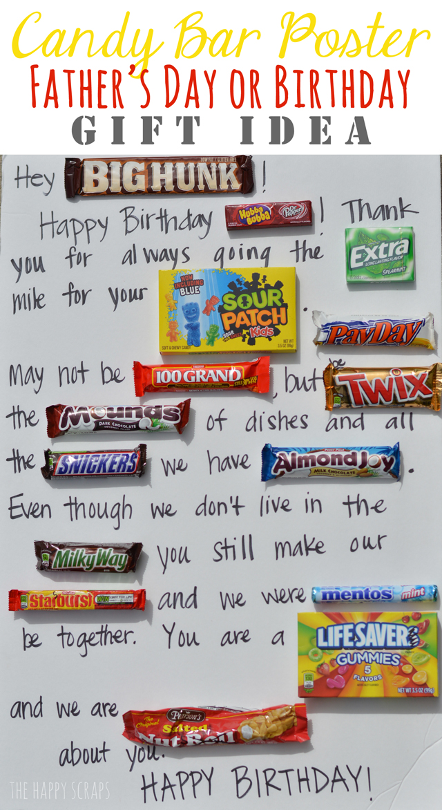 Candy Bar Poster Father S Day Idea The Happy Scraps
