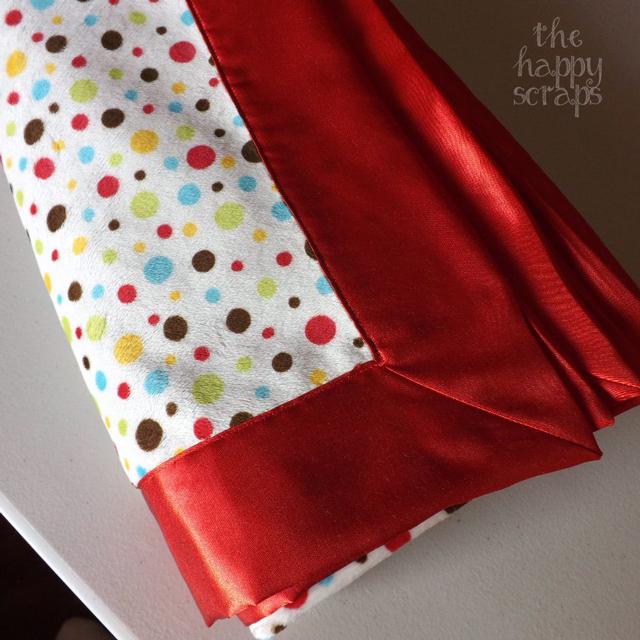 Self Binding Minky & Satin Baby Blanket