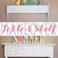 Table & Shelf Makeover