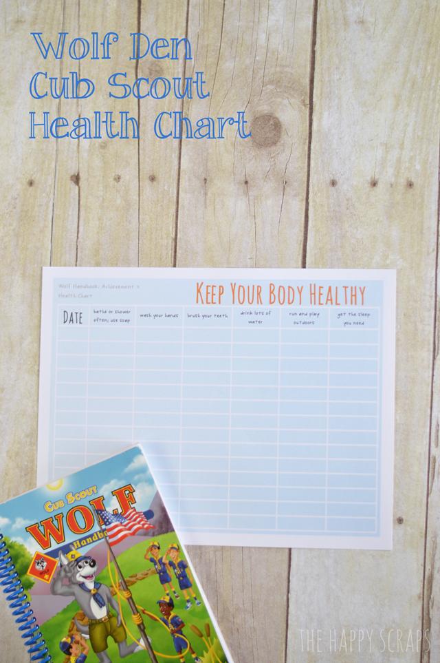 Cub Scout Health Chart