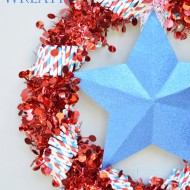 Red, White & Blue Firecracker Wreath