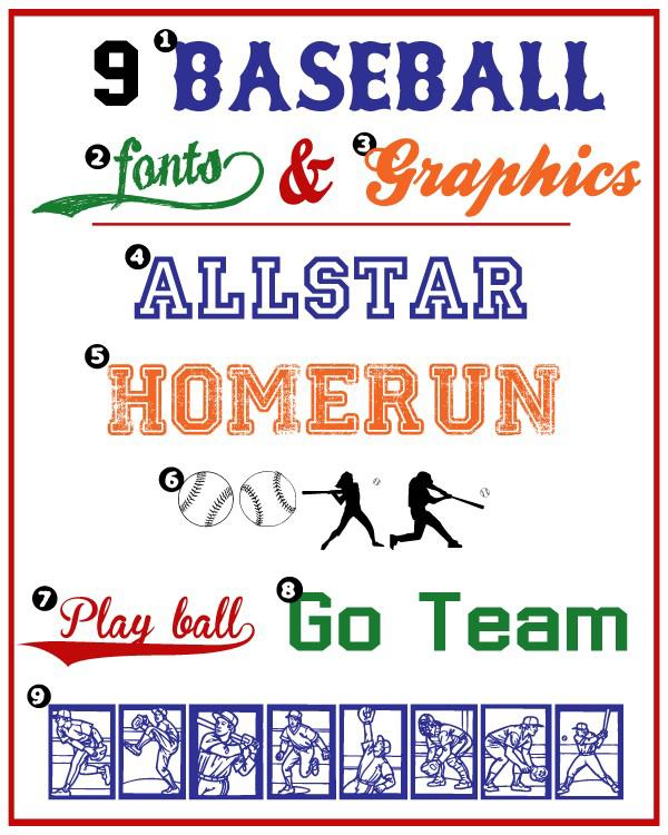 Baseball-Fonts-and-Graphics