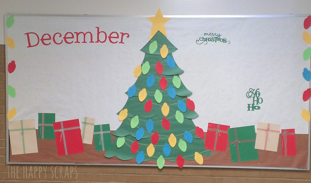 december bulletin board - Christmas Bulletin Board Decorations