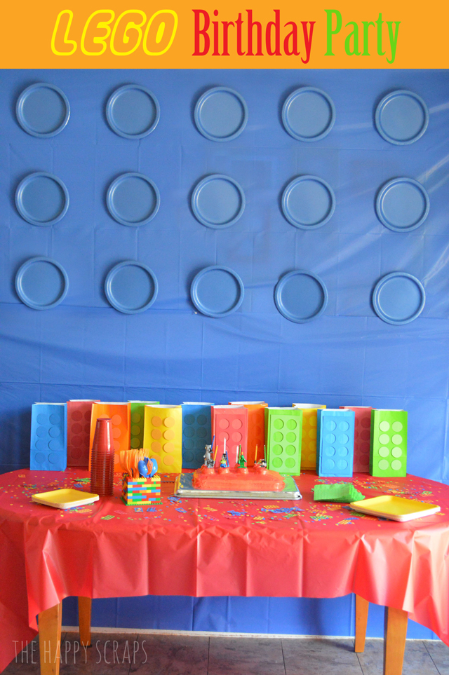 Lego-Birthday-Party & LEGO Birthday Party - The Happy Scraps